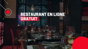 Site Web de restaurant gratuit incluant les fonctions commande de répas et réservation de table en temps réel